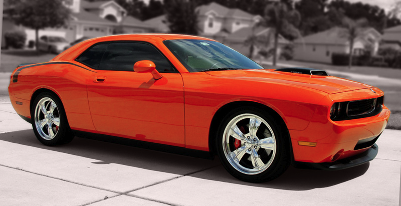 "bonspeed Wheels - ""THRUST"" shown on 2010 Challenger with standard high"